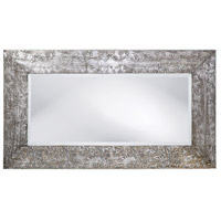 Howard Elliott Collection 1980 Napier 46 X 26 inch Brushed Silver and Black Wall Mirror, Rectangle  alternative photo thumbnail