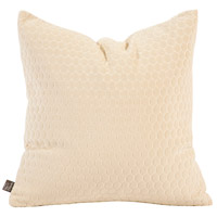Square 20 inch Neutral Sand Pillow, with Down Insert