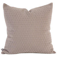 Square 20 inch Stone Gray Pillow, with Down Insert