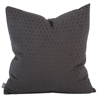 Square 20 inch Pewter Gray Pillow, with Down Insert
