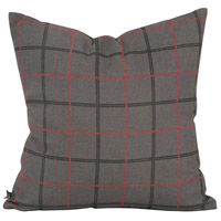 Square 20 inch Charcoal Gray Pillow, with Down Insert