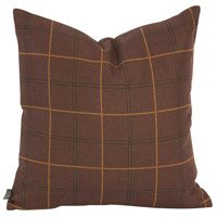 Square 20 inch Oxblood Red and Chocolate Brown Pillow