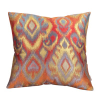 Howard Elliott Collection 2-233F Opal 20 X 6 inch Red and Gold Pillow, Square photo thumbnail
