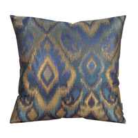 Howard Elliott Collection 2-234F Opal 20 X 6 inch Blue and Green Pillow, Square photo thumbnail