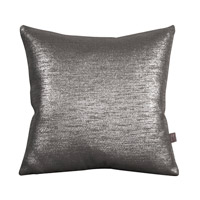 Howard Elliott Collection 2-236F Glam 20 X 6 inch Metallic Silver Pillow, Square photo thumbnail