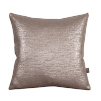 Howard Elliott Collection 2-237F Glam 20 X 6 inch Metallic Silver Pillow, Square photo thumbnail