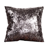 Square 20 X 6 inch Silver Pillow