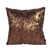 Howard Elliott Collection 2-295F Gold Cougar 20 X 6 inch Metallic Pillow, Square photo thumbnail
