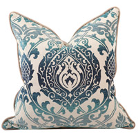 Howard Elliott Collection 2-365F Davida Kay 20 inch Damask Indigo Pillow, with Down Insert photo thumbnail