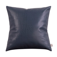 Howard Elliott Collection 2-469 Gator 20 X 6 inch Indigo Blue Pillow, Square photo thumbnail