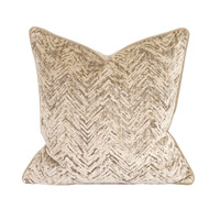 Signature 20 inch Savile Sand Pillow, Square