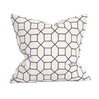 Signature 20 inch Trellis Indigo Pillow, Square