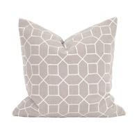 Signature 20 inch Trellis Slate Pillow, Square