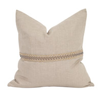 Signature 20 inch Prairie Linen Pillow, Square
