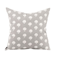 Signature 20 inch Dandelion Pewter Pillow, Square