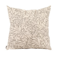 Iris 20 inch Iris Pewter Pillow, Square