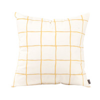 Lattice 20 inch Lattice Citron Pillow, Square