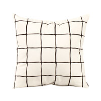 Howard Elliott Collection 2-633 Lattice 20 inch Lattice Onyx Pillow, Square photo thumbnail