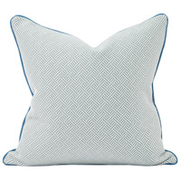 Howard Elliott Collection 2-642F Madcap Cottage 20 inch Ocean Blue Pillow, with Down Insert