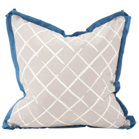 Howard Elliott Collection 2-661F Madcap Cottage 20 inch Neutral and Horizon Blue Pillow, with Down Insert