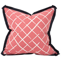 Howard Elliott Collection 2-663 Madcap Cottage 20 inch Cove End Rhubarb Pillow photo thumbnail