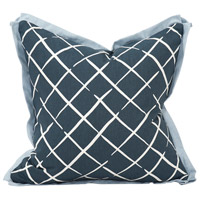 Howard Elliott Collection 2-664F Madcap Cottage 20 inch Indigo Blue Pillow, with Down Insert