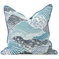 Howard Elliott Collection 2-667F Madcap Cottage 20 inch Windsor Park Ocean Pillow, with Down Insert photo thumbnail