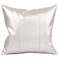 Signature 20 inch Mercury and Polyurethane Faux Leather Pillow, Square