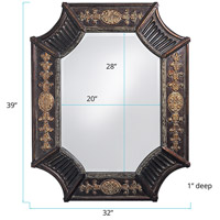 Howard Elliott Collection 2001 Orion 39 X 32 inch Deep French Brown Resin Wall Mirror, Rectangle alternative photo thumbnail