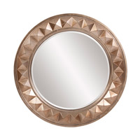 Howard Elliott Collection 2006 Fantasia 32 X 32 inch Distressed Silver Leaf Wall Mirror, Round photo thumbnail
