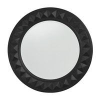 Howard Elliott Collection 2006BL Fantasia 32 X 32 inch Black Wall Mirror, Round photo thumbnail