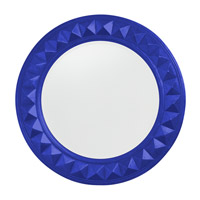 Howard Elliott Collection 2006RB Fantasia 32 X 32 inch Royal Blue Wall Mirror, Round photo thumbnail