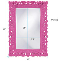 Howard Elliott Collection 2020HP Barcelona 46 X 32 inch Hot Pink Wall Mirror, Rectangle alternative photo thumbnail