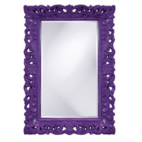 Howard Elliott Collection 2020RP Barcelona 46 X 32 inch Royal Purple Wall Mirror, Rectangle photo thumbnail