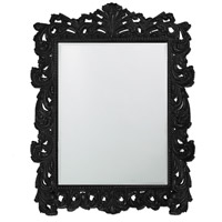Howard Elliott Collection 2037XLBL Napoleon 85 X 65 inch Black Wall Mirror, Rectangle photo thumbnail