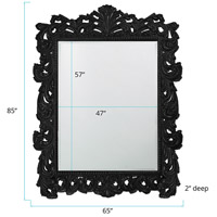 Howard Elliott Collection 2037XLBL Napoleon 85 X 65 inch Black Wall Mirror, Rectangle alternative photo thumbnail