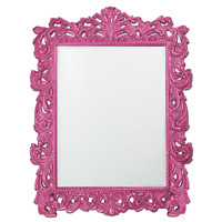 Howard Elliott Collection 2037XLHP Napoleon 85 X 65 inch Hot Pink Wall Mirror, Rectangle photo thumbnail