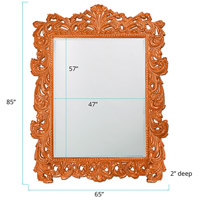 Howard Elliott Collection 2037XLO Napolean 85 X 65 inch Orange Wall Mirror, Rectangle alternative photo thumbnail