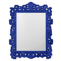 Howard Elliott Collection 2037XLRB Napoleon 85 X 65 inch Royal Blue Wall Mirror, Rectangle photo thumbnail