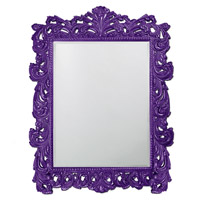 Howard Elliott Collection 2037XLRP Napoleon 85 X 65 inch Royal Purple Wall Mirror, Rectangle photo thumbnail