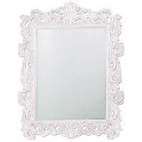 Howard Elliott Collection 2037XLW Napoleon 85 X 65 inch White Wall Mirror, Rectangle photo thumbnail