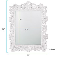 Howard Elliott Collection 2037XLW Napoleon 85 X 65 inch White Wall Mirror, Rectangle alternative photo thumbnail