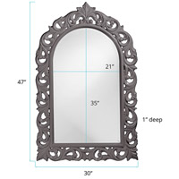 Howard Elliott Collection 2058CH Orleans 47 X 30 inch Charcoal Gray Wall Mirror, Rectangle alternative photo thumbnail