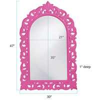 Howard Elliott Collection 2058HP Orleans 47 X 30 inch Hot Pink Wall Mirror, Rectangle alternative photo thumbnail