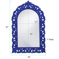 Howard Elliott Collection 2058RB Orleans 47 X 30 inch Royal Blue Wall Mirror, Rectangle alternative photo thumbnail