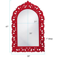 Howard Elliott Collection 2058R Orleans 47 X 30 inch Red Wall Mirror, Rectangle alternative photo thumbnail