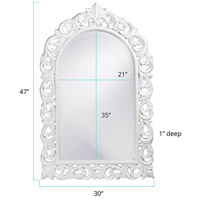Howard Elliott Collection 2058W Orleans 47 X 30 inch White Wall Mirror, Rectangle alternative photo thumbnail