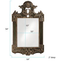 Howard Elliott Collection 2068XL Park Lane 94 X 64 inch Antique Black Wall Mirror, Rectangle alternative photo thumbnail
