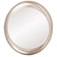 Howard Elliott Collection 2070 Ellipse 39 X 35 inch Burnished Silver Leaf Wall Mirror, Round photo thumbnail