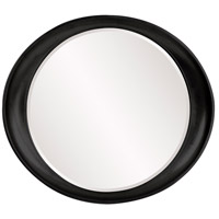 Howard Elliott Collection 2070BL Ellipse 39 X 35 inch Black Wall Mirror, Round photo thumbnail